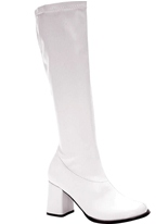 Bottes gogo blanc brevet Chaussures pour femmes