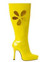 Amour bottes jaune Chaussures pour femmes