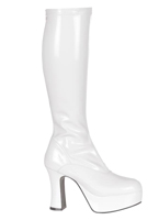 Genou Bottes brevet Stretch blanc Chaussures pour femmes