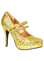 Paillettes d'or Mary Jane chaussures Chaussures pour femmes
