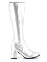 Bottes gogo argent Chaussures pour femmes