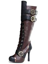 Mesdames haute Steampunk bottes au genou Chaussures pour femmes