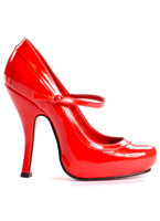 Mary Jane chaussures rouge Chaussures pour femmes
