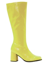 Bottes gogo jaune brevet Chaussures pour femmes
