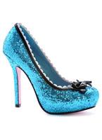 Princess Blue Glitter pompe chaussures Chaussures pour femmes