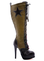 Milice Boot Knee High Chaussures pour femmes