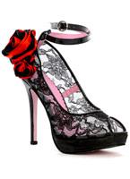 Flor Lace Peep Toe Shoe Chaussures pour femmes