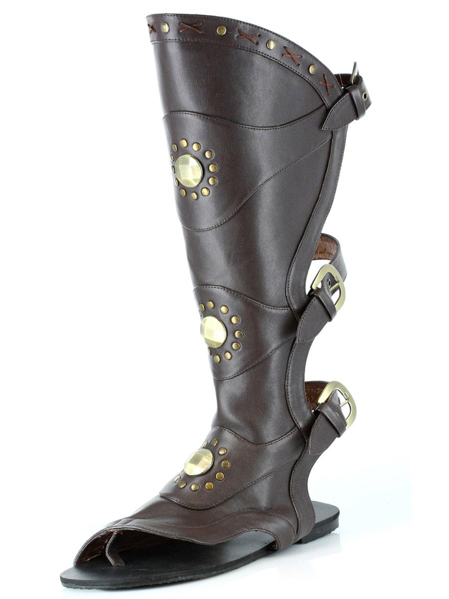 Chaussures pour hommes Genou mâle haute Gladiator Sandals