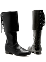 Mens Black Pirate Boots Chaussures pour hommes