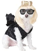 Costume de Lady Gaga chien Animaux de compagnie