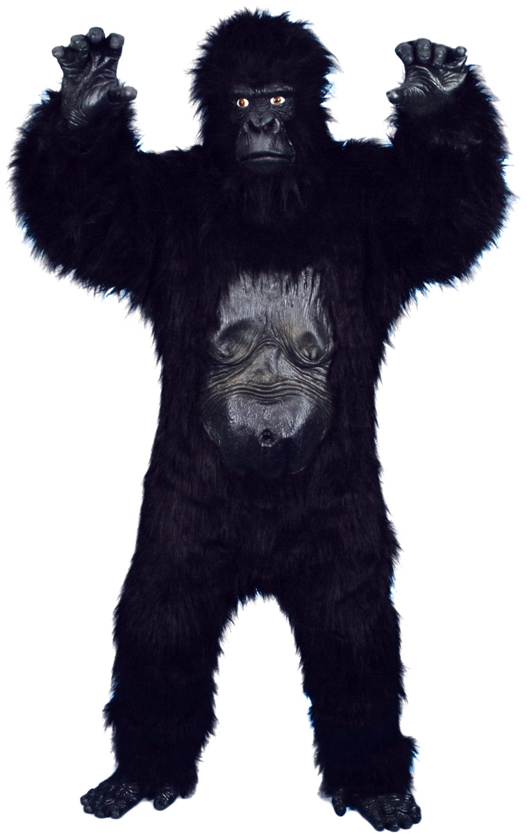 Animaux Costume Adulte Gorilla Deluxe Costume noir