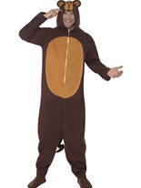 Costume de singe Onesie Animaux Costume Adulte