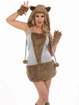 Costume Lady Fox Animaux Costume Adulte