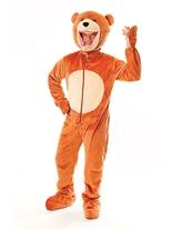 Costume d'ours en peluche de grosse tête Animaux Costume Adulte