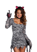 Costume de chat lutte Kitty Animaux Costume Adulte