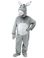 Grosse tête Donkey Costume Animaux Costume Adulte