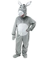 Grosse tête Donkey Costume Animaux Costume Adulte