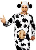 Vache stupide Costume noir et blanc Animaux Costume Adulte