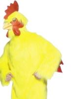 Costume de poulet jaune de fourrure Animaux Costume Adulte