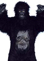 Gorilla Deluxe Costume noir Animaux Costume Adulte