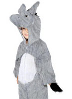 Costume peluche âne gris velours Animaux Costume Enfant