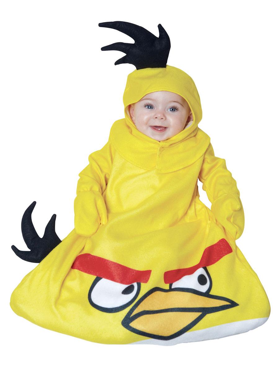 Deguisement Angry Birds Les oiseaux en colère infantiles jaune Costume