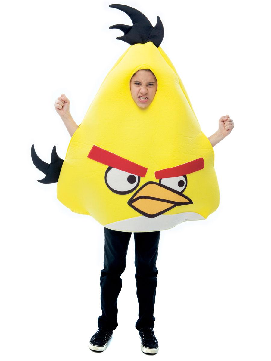 Deguisement Angry Birds Les oiseaux en colère enfant jaune Costume