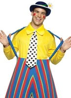 Costume de l'adulte de Clown avec des raies Deguisement Clown
