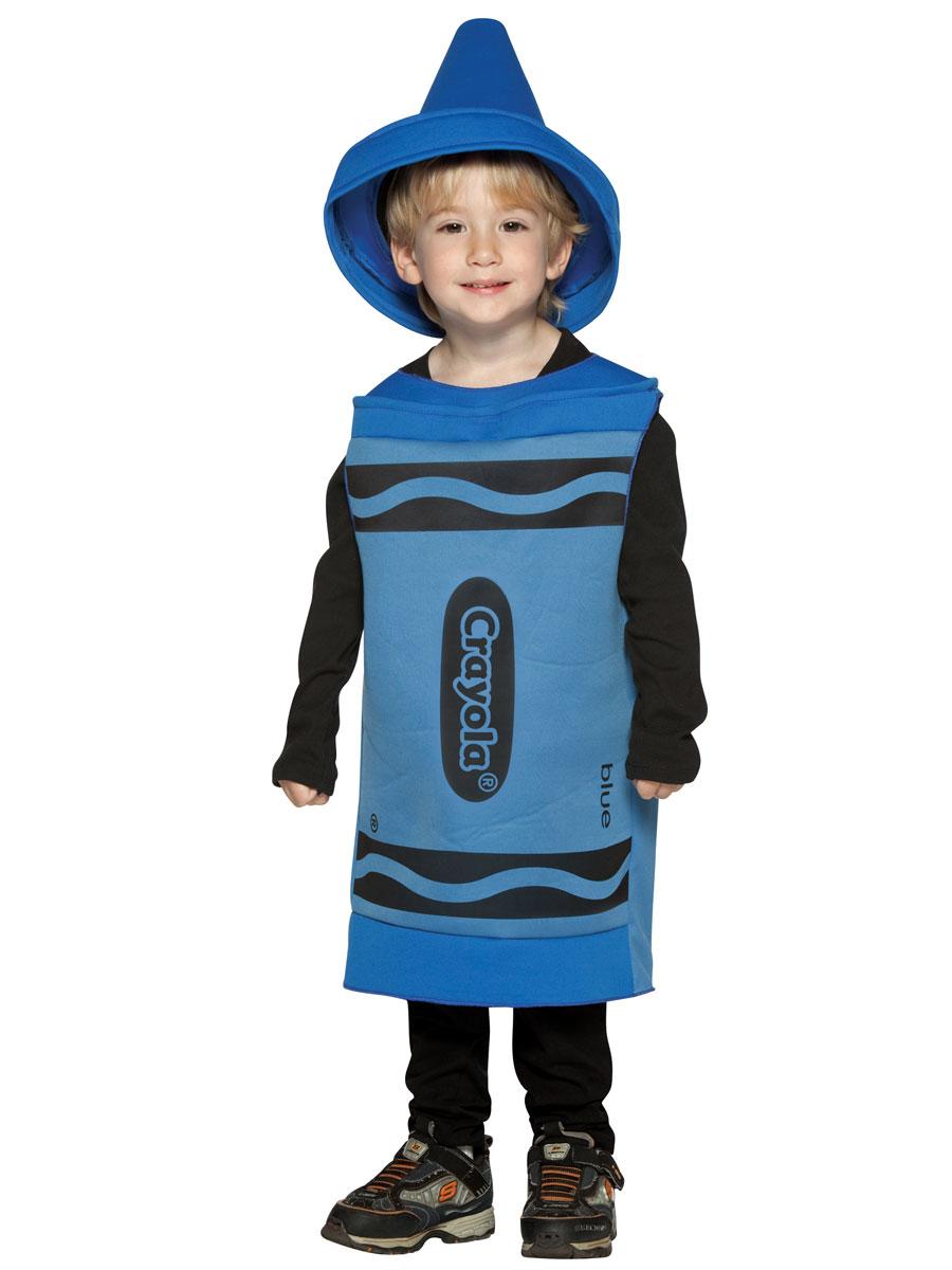 Costume crayon Enfant Crayola Crayon bleu Costume 3-4ans
