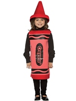 Enfant Crayola Crayon rouge Costume 4-6ans Costume crayon