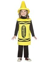 Enfant Crayola Crayon jaune Costume 3-4ans Costume crayon