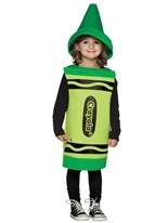Enfant Crayola Crayon vert Costume 3-4ans Costume crayon
