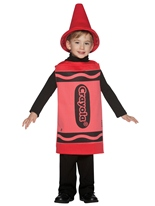 Enfant Crayola Crayon rouge Costume 3-4ans Costume crayon