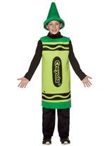 7-10 Ans de Costume enfant Crayola Crayon vert Costume crayon