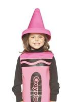 Enfant Crayola Crayon rose Costume 4-6ans Costume crayon