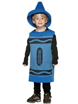4-6 Ans de Costume enfant Crayola Crayon bleu Costume crayon