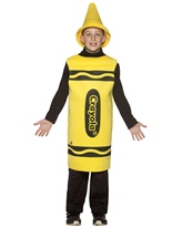 7-10 Ans de Costume enfant Crayola Crayon jaune Costume crayon