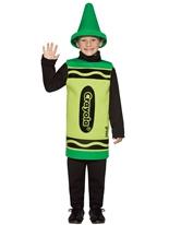 4-6 Ans de Costume enfant Crayola Crayon vert Costume crayon