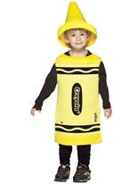 Enfant Crayola Crayon jaune Costume 4-6ans Costume crayon