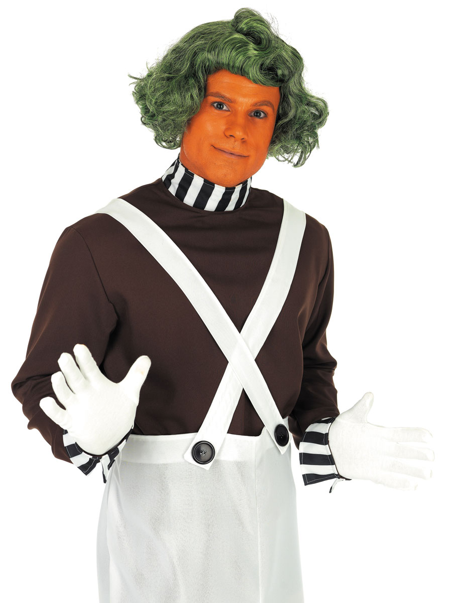 Costume Fantaisie Oompa Loompa - chocolaterie travailleur Costume