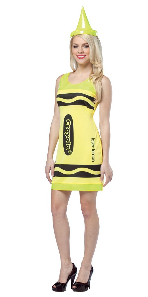 Costume Fantaisie Crayola Crayons néon jaune Tank robe Costume