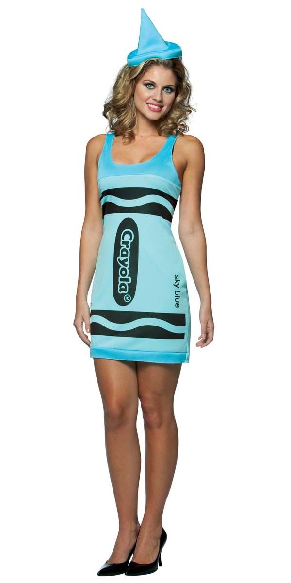 Costume Fantaisie Crayola Crayons de couleur bleu ciel réservoir robe Costume