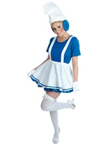 Costume Lady Blue Gnome Costume Fantaisie