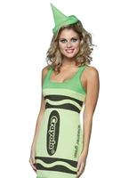 Crayons de couleur Crayola crier réservoir vert robe Costume Costume Fantaisie