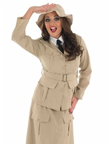 Mesdames Safari Explorer Costume Costume Fantaisie