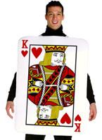 Roi de Costume de coeurs Costume Fantaisie