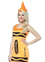 Crayola Crayons Neon Orange Tank robe Costume Costume Fantaisie