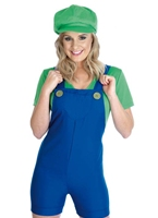 Sexy plombier vert s'accouplent Costume Costume Fantaisie