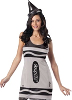 Crayola Crayons de couleur argent Tank robe Costume Costume Fantaisie
