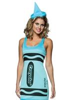 Crayola Crayons de couleur bleu ciel réservoir robe Costume Costume Fantaisie